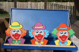 Clowns koppen gooien